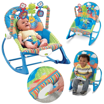 Picture of Infant to Toddler Baby Bouncer Swing Chair Rocker Vibration Musical