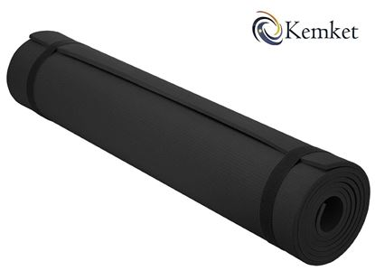 Picture of Kemket Yoga Exercise Fitness Workout Non Slip Mat 10 MM  High Density Anti-Tear Exercise Mat with Carrying Strap