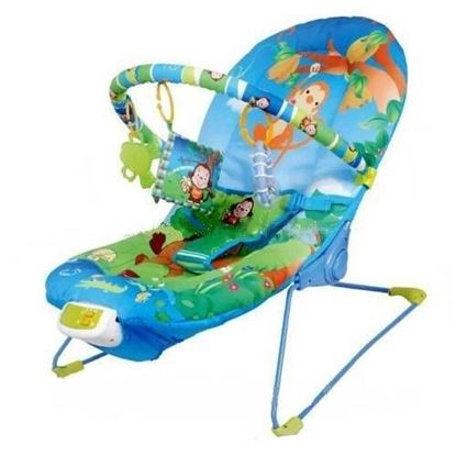 Picture of Baby Rocker Bouncer Reclining Chair Music Melodies Soothing Vibration Toys