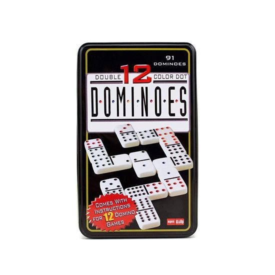 Picture of 91 Dominoes Double Colour Dot Collectors Tin Set Game