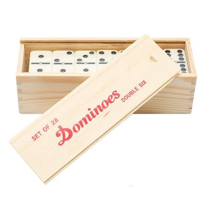 Picture of Dominoes Double Six Club Indoor Games wooden box