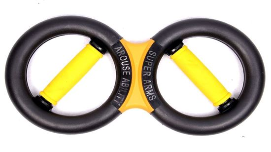 Picture of Kemket Latest Super Iron Arm Hand Grip - Best Arm Strengthener - Badminton Back Hand Trainer 10KG - Yellow