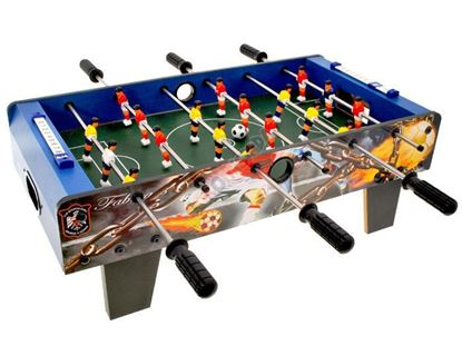 Picture of Football Table Top Game, 6 Rows Fun Table with Legs, Indoor & Outdoor Table Soccer Game Presents for for Kids Teens and Adults.