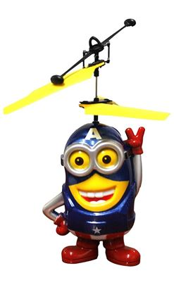 Picture of Flying Blue Despicable Me Minion mini helicopter toy For Kids