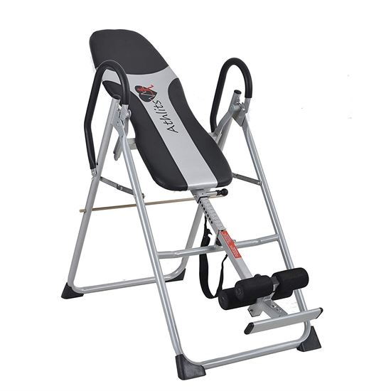 Picture of Kemket Inversion Table Back Therapy Fitness Reflexology Equipment - Inversion Table Inversion Machine With Comfort Backrest