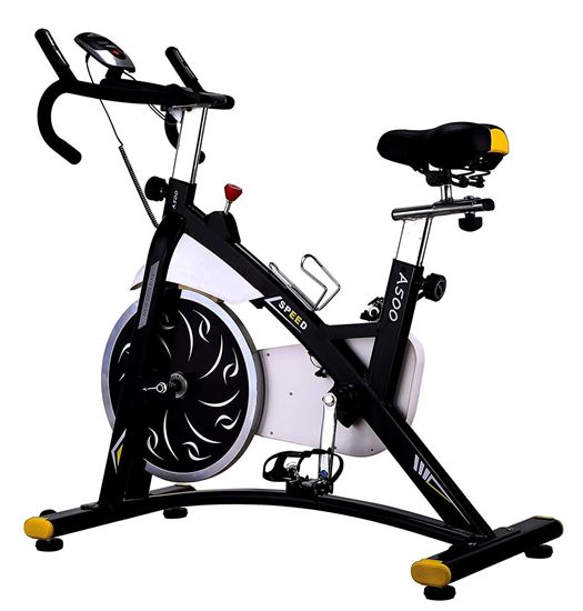 Picture of Kemket A500 Indoor Cycling Exercise Commercial Heavy Frame standards Spin Bike, Direct Belt Driven -(A500-9KG, A600-20 KG FLYWHEEL)