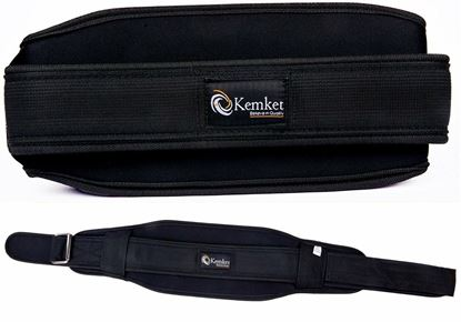 Picture of Kemket Gym Weight Lifting Neoprene Double Belt Back Lumber Support Fitnes Small