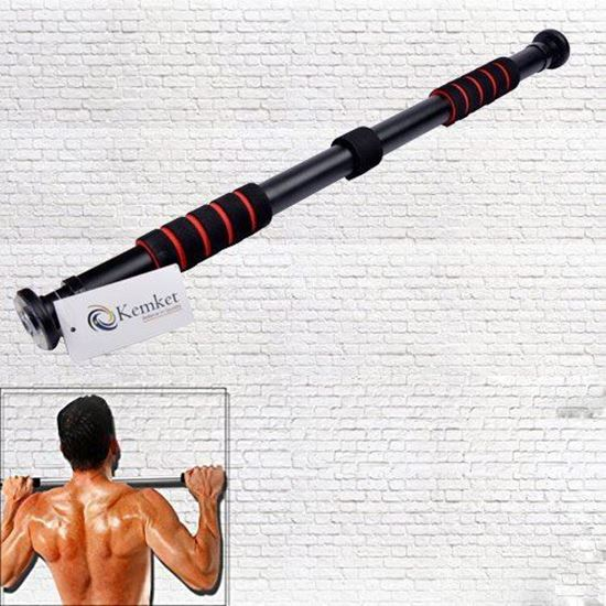 Picture of Exercise Door Bar Pull Chin Up Home Gym Fitness Strength Training workout - 110cm And Door Bar with Tubes