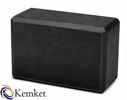 Picture of Kemket Yoga Block Brick Foaming Foam Block Home Exercise Pilates Tool Stretching Aid BLACK