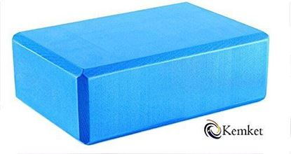Picture of Kemket Yoga Block Brick Foaming Foam Block Home Exercise Pilates Tool Stretching Aid BLUE