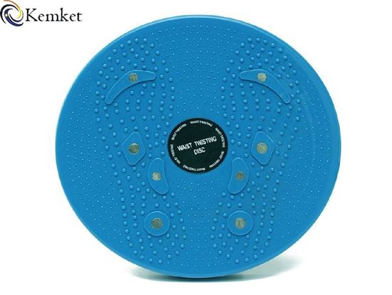 Picture of Kemket Waist Twister Disc Fitness Massage Round With Hand Ropes And Without Ropes Foot Massager Stepper wriggled plate BLUE