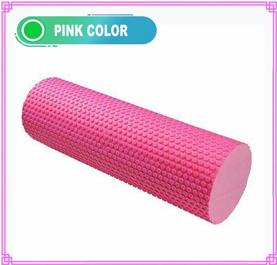 Picture of Yoga EVA Foam Roller 15cmx45cm - Yoga, Pilates, Fitness Routines, Rehabilitation Training, Stretching, Improving Core Muscles, Strength, Posture, Stability, Massage Therapy Pink
