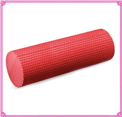 Picture of Yoga EVA Foam Roller 15cmx45cm - Yoga, Pilates, Fitness Routines, Rehabilitation Training, Stretching, Improving Core Muscles, Strength, Posture, Stability, Massage Therapy Red