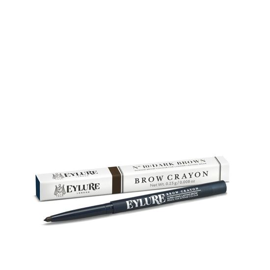 Picture of Eylure Brow Crayon Dark Brown no 10 Twist Up Intense brow crayon Long Lasting