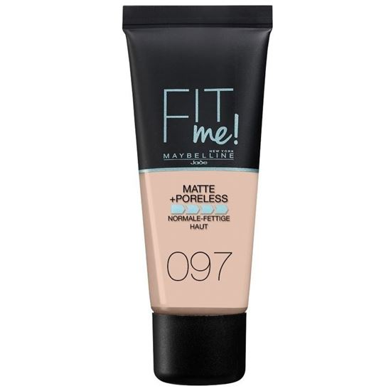 Picture of Maybelline Fit Me Matte Poreless Foundation, 30ml -  097 NATURAL