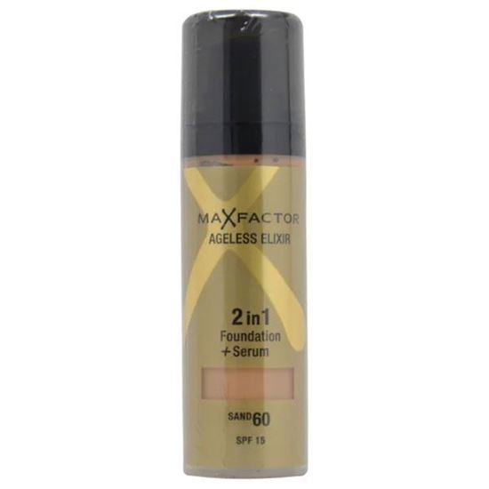 Picture of Max Factor Ageless Elixir Miracle 2 in 1 Foundation + Serum - 60 Sand Spf15 30ml