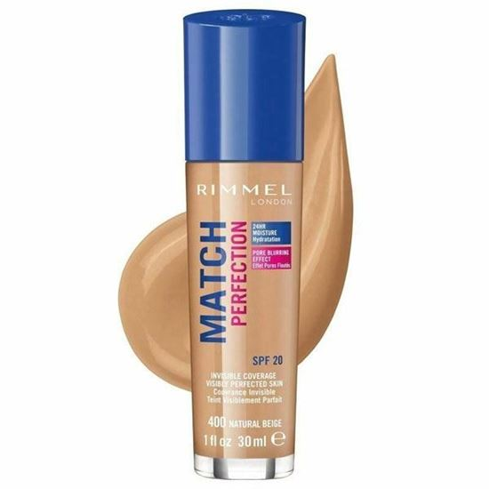 Picture of Rimmel Match Perfection Foundation -  Natural Beige 400