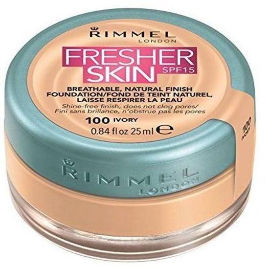Picture of Rimmel Fresher Skin Foundation - Ivory 100, 25ML