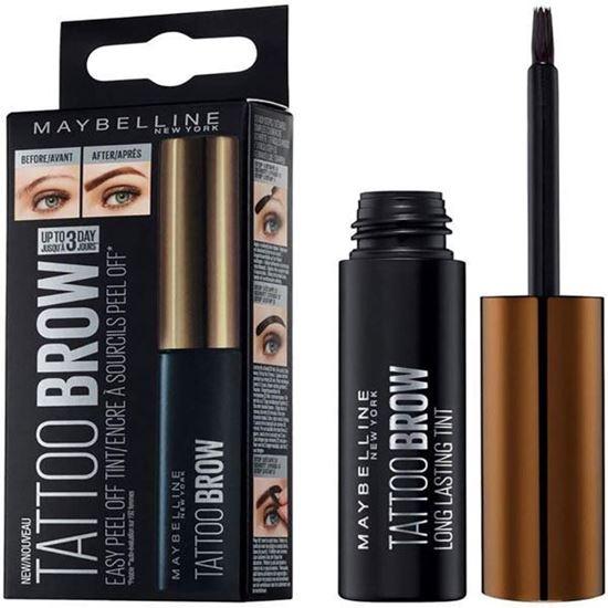 Picture of Maybelline Tattoo Brow Longlasting Peel Off Semi Permanent Eyebrow Gel Tint -  Dark Brown