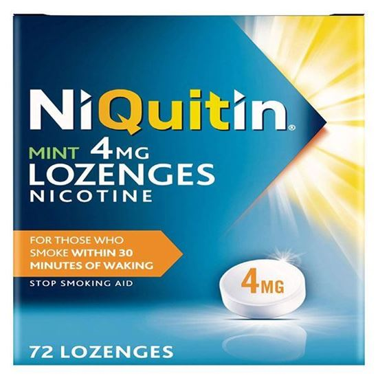 Picture of Niquitin Mint Lozenges, 4 mg, Pack of 72 Lozenges