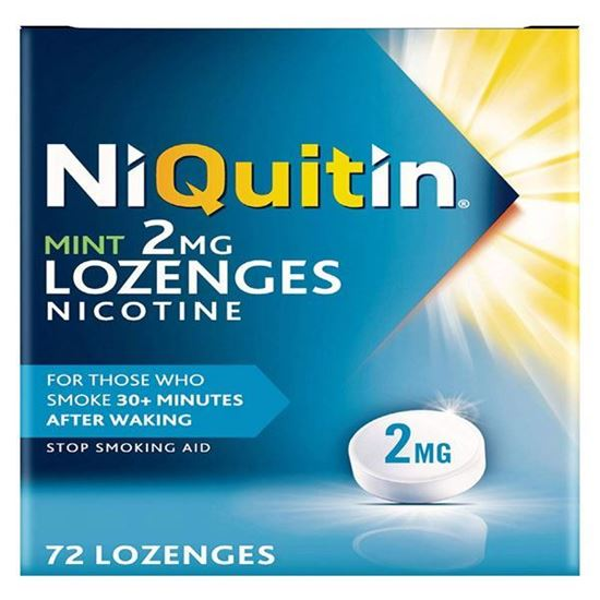 Picture of Niquitin Mint Lozenges, 2 mg, Pack of 72 Lozenges