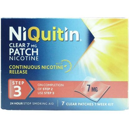 Picture of NiQuitin Clear 24 Hour 7 Patches Step 3, 7mg