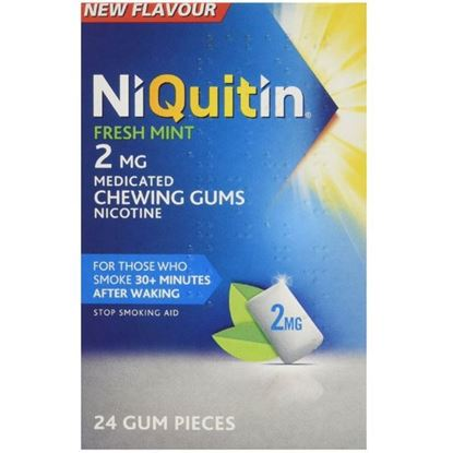 Picture of Niquitin CQ Chewing Gum Mint 2mg - 24 Pieces