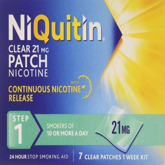 Picture of NiQuitin 21mg Clear 24 Hour 7 Patches Step 1