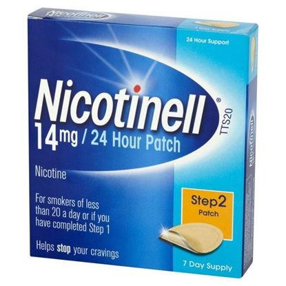 Picture of Nicotinell 24 Hour Patches 14mg Step 2 7 Patches
