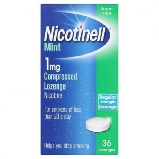 Picture of Nicotinell Mint Compressed Lozenges 1mg 36 Lozenges