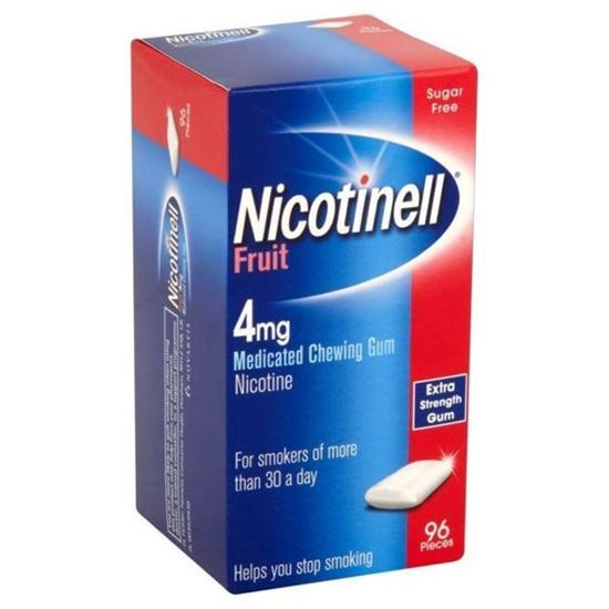 Picture of Nicotinell Fruit 4mg Medicated Chewing Gum 96 Pieces
