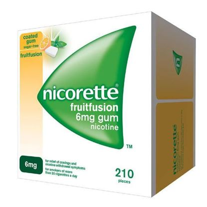 Picture of Nicorette 6mg Fruit Fusion Nicotine Gum 210 Pieces