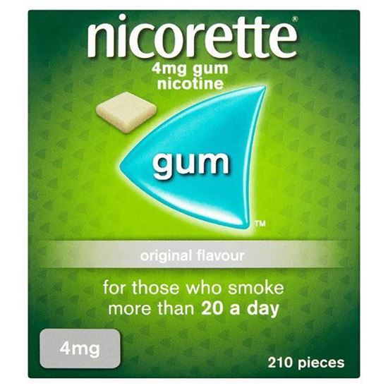 Picture of Nicorette Original Chewing Gum, 4 mg, 210 Pieces (Stop Smoking Aid) - Packaging may Vary