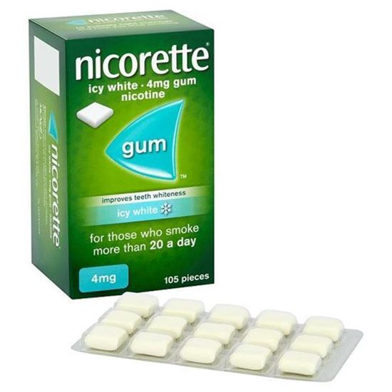 Picture of Nicorette Chewing Gum Icy White Gum 4mg 105 pieces