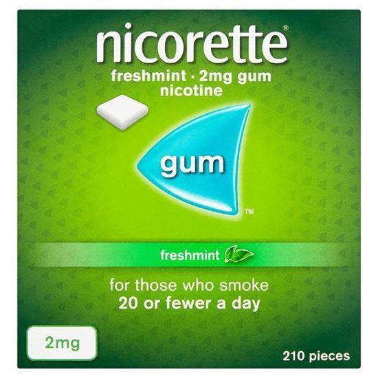 Picture of Nicorette Fresh Mint Chewing Gum, 2mg, 210 Pieces