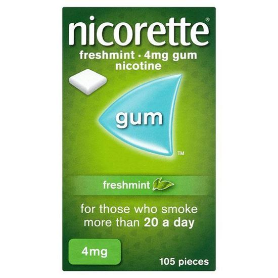 Picture of Nicorette Chewing Gum 4mg Freshmint 105 Pieces