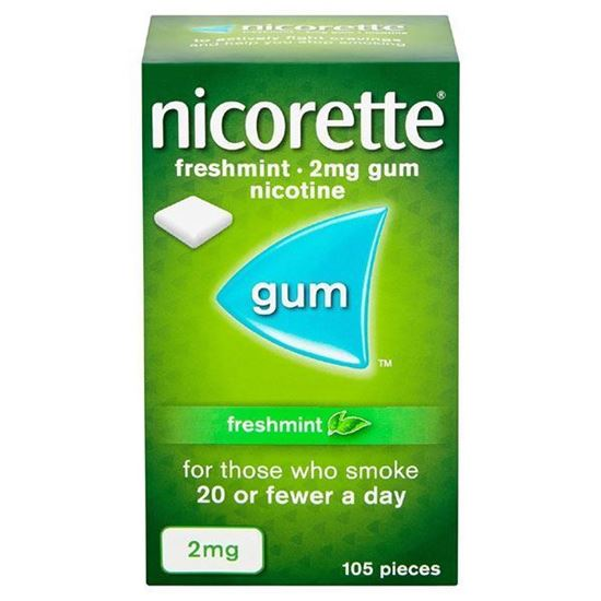Picture of Nicorette Chewing Gum 2mg Freshmint 105 Pieces
