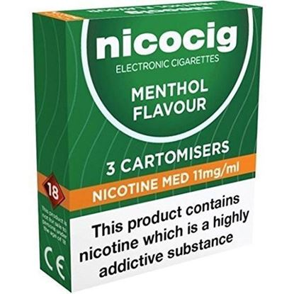Picture of Nicocig Cartomiser Menthol Medium 11mg 3 cartridges