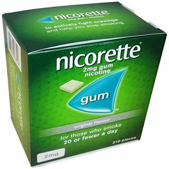 Picture of Nicorette Chewing Gum Orginal 2mg Quantity 210