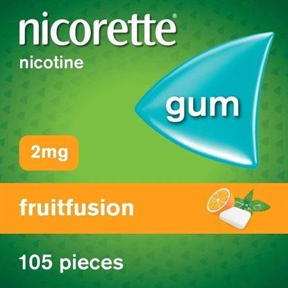 Picture of Nicorette 2 mg Fruitfusion Gum 105 pieces