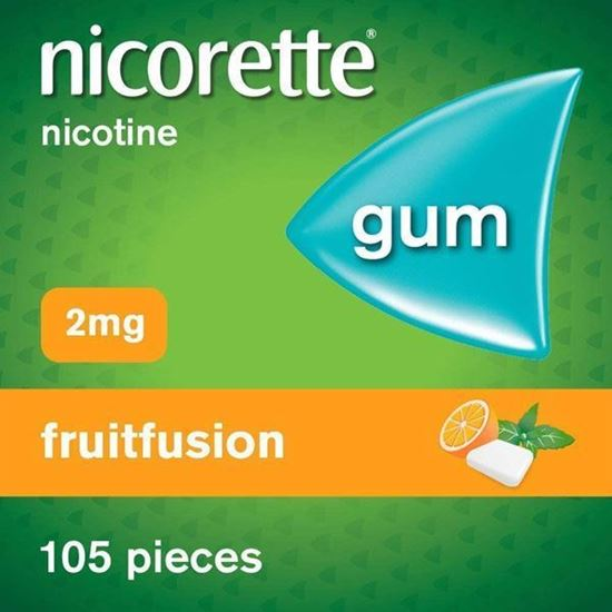 Picture of Nicorette 2 mg Fruitfusion Gum 105 pieces