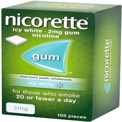 Picture of Nicorette Chewing Gum Icy White Gum 2mg 105 pieces