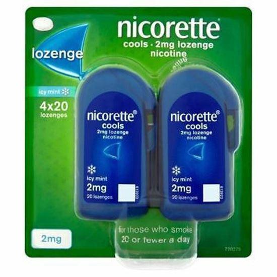 Picture of Nicorette Cools 2mg 4 x 20 Lozenge