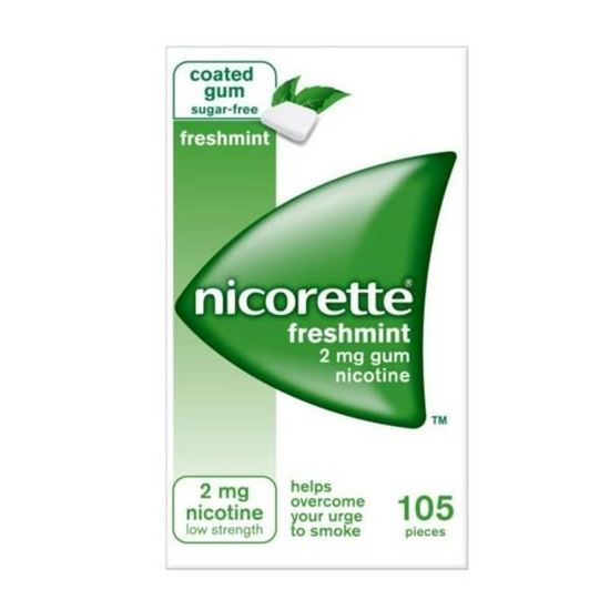 Picture of Nicorette Freshfruit Sugar Free Low Strength Chewing Gum To Help Quit Smoking 2mg - 105 Pieces