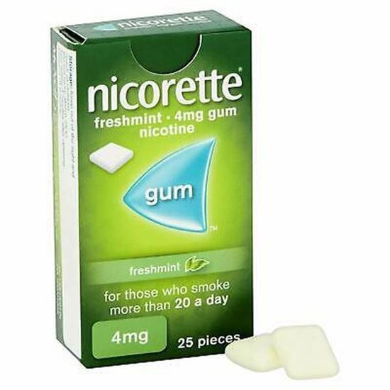 Picture of Nicorette Freshmint Chewing Gum, 4 mg, 25 Pieces (Stop Smoking Aid)
