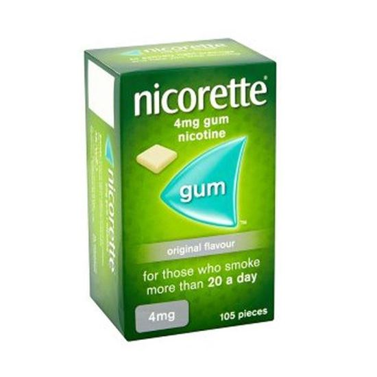 Picture of NICORETTE GUM Original FULL STRENGTH 4MG 105 Pieces