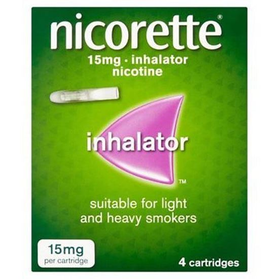 Picture of NICORETTE INHALATOR 15MG 4S