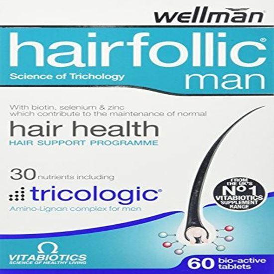 Picture of Vitabiotics Wellman Hairfollic Man - 60 Tablets