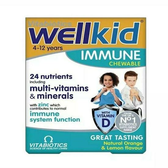 Picture of Vitabiotics Wellkid Immune Chewable - 30 Vegetarian Tablets With Vitamin D