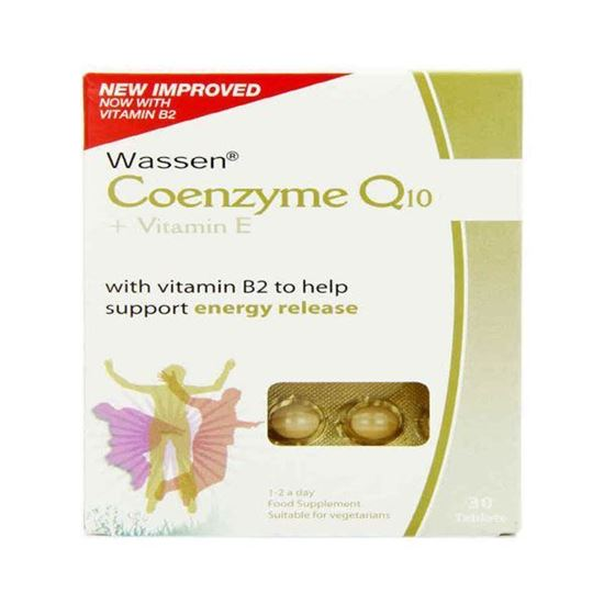 Picture of Wassen  Co-Enzyme Q10 & Vitamin E- 30 Tablets